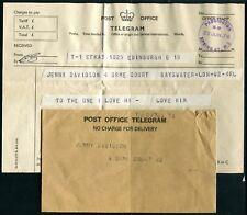UK Telegram with cover Perth 30JUN76