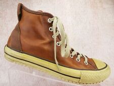 Converse Chuck Taylor All Star Brown Leather High Tops Classic Sneakers US 9