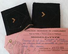 Insigne Patch Pattes de Col PFAT INDOCHINE PERSONNEL FÉMININ rare modèle type 1