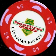 $5 Las Vegas Boulder Station Casino Chip - Obsolete