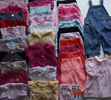 Baby Girls Size 9 months, 6-12 months Fall- Spring Clothes Lot of 35 Items L1-18