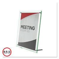 Deflecto Superior Image Beveled Edge Sign Holder Acrylic 8 1/2 X 11 Insert Clear
