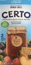 Sure Jell CERTO Premium Fruit Pectin LIQUID 6oz jam jelly Kraft (VEGAN)