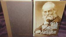 Walt Whitman: a Life - Justin Kaplan ~ 1st HbDj  1980 HbDj  Informative  in MELB