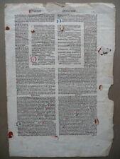Incunabolo Libro Salmi Salmo 138 Religione Fede Chiesa Capilettera Latino
