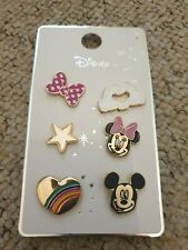 Official Disney Mickey Minnie Mouse 6 X Pin Badges Badge Rainbow Primark