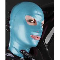 New 100%Latex Rubber Cool Mask Masque Unique Special Mask Light Blue SizeChoose
