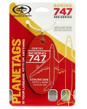Qantas Airways Boeing 747-400 Tail #VH-OJP Actual Aluminum Airplane Skin Bag Tag