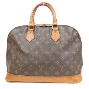LOUIS VUITTON Alma PM Handbag Monogram Brown M53151