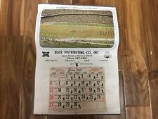 Vintage 1971-72  Washington DC Sports Schedule Senators Redskins Calendar