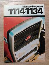 Original Traktor Massey Ferguson Prospekt  Traktoren 1114 + 1134