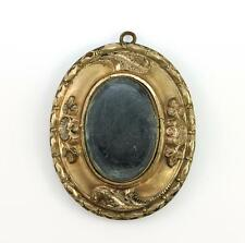Vintage Anitque Victorian Gold Filled Mourning Hair Locket Pendant QX