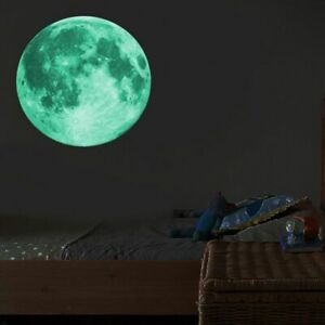 30cm Luminous Moon 3d Wall Sticker For Kids Room Living Room Bedroom Decoration