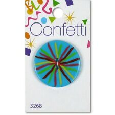 Confetti Turquoise Sketch Sew Thru Button by Blumenthal Lansing