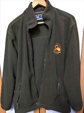 OP Iraqi Freedom Kuwait Fleece Jacket Size L Mens Green Zip Front and Pockets