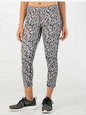 Nike Essential Tight Fit Cropped Printed Black/White Tights 849889-010 Size : XL