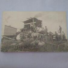 Farming or Logging Equipment w Horse Real Photo Postcard Vintage RPPC