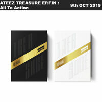 ATEEZ TREASURE EP.FIN : All To Action CD+Photobook+Sticker+Photocard+Etc+Track