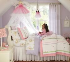 Pottery Barn Kids Pink Fairy Princess Canopy Blond Princess Rare, Tulle, Bed,