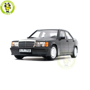 1/18 Norev 183830 Benz 190E 2.3-16 W201 Diecast Model Toys Cars Boys Gifts Black