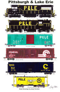 "Pittsburgh & Lake Erie Conrail Chessie Train 11""x17"" Poster Andy Fletcher signed"