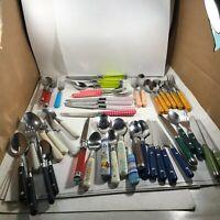 Lot of 46 Misc Acrylic Melmac Kitchen Utensils