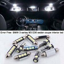 White LED Interior Light Kit For 1992-1998 BMW 3 series M3 E36 sedan coupe +Tool