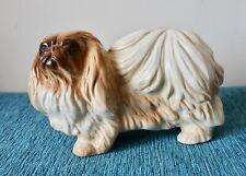 More details for vintage porcelain pekingese dog 17 cm circa 1950.