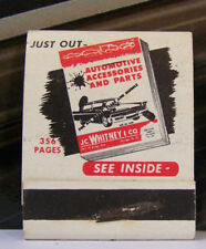 Rare Vintage Matchbook A6 JC Whitney Co Automotive Accessories And Parts Cars