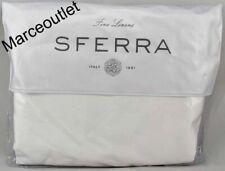 Sferra Diamante 732A Long Staple Cotton Sateen King Duvet Cover White