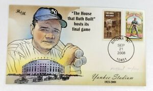 Bevil HP H&M Babe Ruth Yankee Stadium Final Game Event Cover Cachet Sep 21 2008.