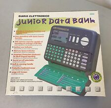 VINTAGE# ELECTRONIC DIARY DIARIO ELETTRONICO JUNIOR DATA BANK#NIB
