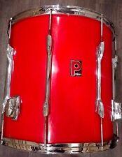 Vintage 1988/89 Premier APK Hot Red 16x16 Floor Tom Drum Made in England 8778
