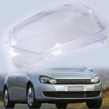 Passenger Side Plastic Headlight Lens Shell Cover Replacement for VW Golf 6 MK6
