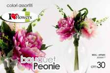 MAZZO MAZETTO BOUQUET PEONIA 30 CM FIORI FINTI ARTIFICIALI ASSORTITI HEG 693601
