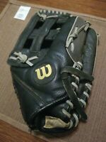 "WILSON ELITE 13"" SLOW PITCH BLACK & GRAY GLOVE WTA2449 SOFTBALL SLOW15 MITT"