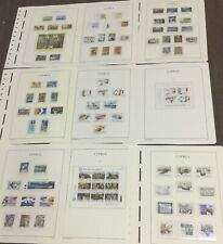 MOMEN: CYPRUS 1984-1987 MINT COLLECTION ON 9 HINGELESS PAGES LOT #6056