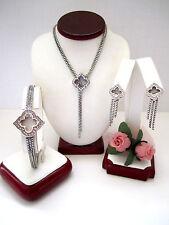 "Brighton ""TOLEDO FALLS"" Necklace-Earring-Bracelet Set (MSR$178) NWT/Pouch"