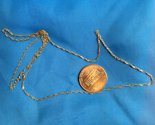 "14k  Karat  Gold Necklace  Shiny Unisex  Chain Necklace, 18"""