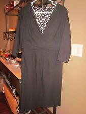 White House Black Market Faux Wrap Chest Dress Ladies 8 NEW $152  (BIN11)