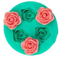1pc 3 Roses Mould Flower Sugar Mould Fondant Bakery Cake Mold Baking Tools