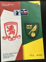 PLAY OFF FINAL 2015 MIDDLESBROUGH  V NORWICH CHAMPIONSHIP  MINT