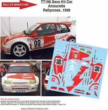 DECALS 1/18 REF 0196 CITROEN SAXO KIT CAR AMOURETTE RALLYCROSS 1998 NO RALLYE