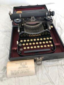 Corona Typewriter 1904