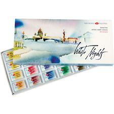 White Nights Watercolours 24 Whole Pans Cardboard Box Set - St. Petersburg