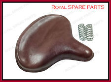 Brand New Royal Enfield Front American Type Seat Brown Colour + Chrome Springs