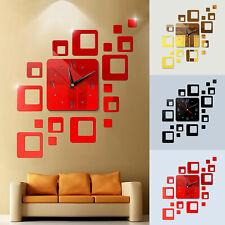 Modern Diy 3D Large Wall Clock Mirror Surface Sticker Art Design Home Decor Room