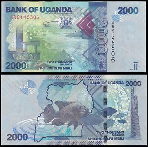 Uganda 2000 Shillings 2010 P-50a - UNC