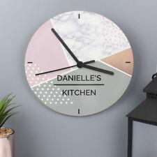 Glass Art Deco Style Analogue Wall Clocks