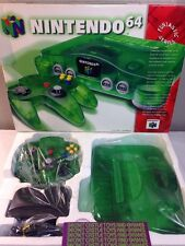JUNGLE GREEN CONSOLE Nintendo 64 N64 System Controller CLEANED Complete w/ Box